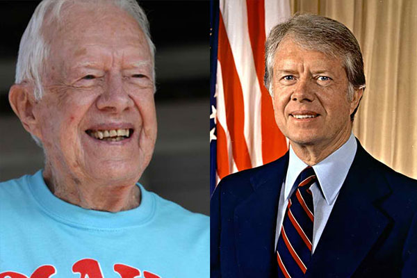JIMMY CARTER, 93 YEARS OLD